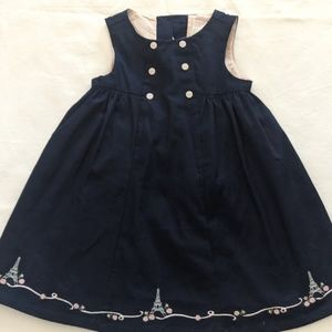 Janie & Jack Baby Girls Sleeveless Navy Dress